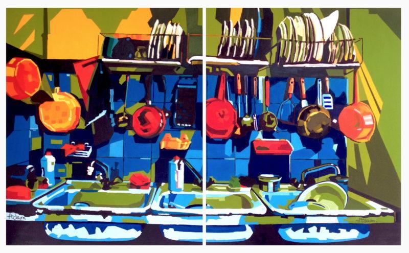 Diptyque vaisselle de gauche et de droite